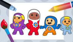 Go jetters colouring game